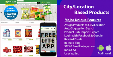 Multi City eCommerce(Single Vendor)