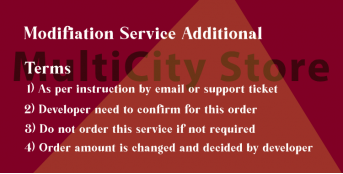 Modification Service Additional