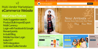 Multi-Vendor/Multi-Seller Marketplace 2 eCommerce Website