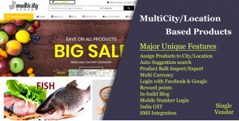 MultiCity/Location Based Products eCommerce Website