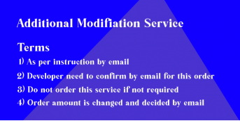 Additional Modification Service