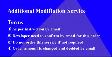Additional Modification Service