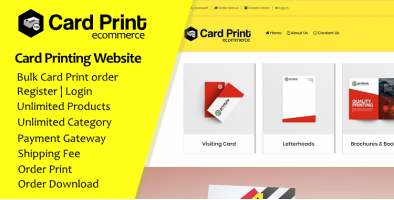 Card Bulk Print Order Ecommerce Website