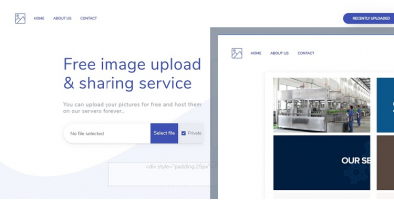 Image sharing & upload portal